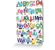 Alphabet for kids Greeting Card