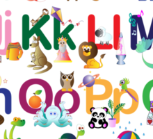 Alphabet for kids Sticker