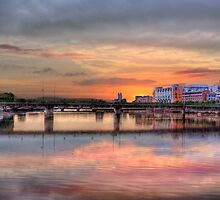 Crossing the Shannon - Sunrise in Limerick, Ireland by Mark Richards