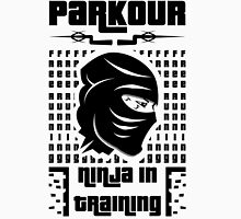 Parkour-ninja in training in white Unisex T-Shirt