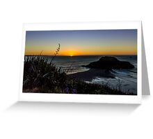 Sunset New Plymouth Greeting Card