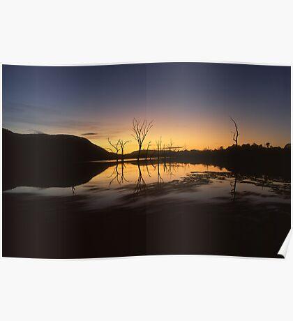"""Somerrise"" ∞ Lake Somerset, QLD - Australia Poster"