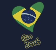 Olympic Heart for Olympic Games in Rio de Janeiro 2016 (B) Kids Tee