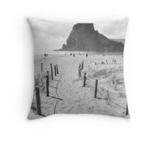 Piha Beach Throw Pillow
