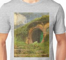 The Bag End Hobbit House Lord of the Rings Shire Illustration Dictionary Art Unisex T-Shirt