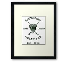 Slytherin Quidditch Framed Print