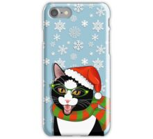 Meowie Christmas - Black Tie Style iPhone Case/Skin