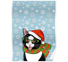 Meowie Christmas - Black Tie Style Poster