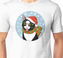 Meowie Christmas - Black Tie Style Unisex T-Shirt