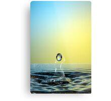 Faling Droplet into water surface Metal Print