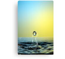 Faling Droplet into water surface Canvas Print