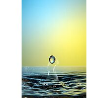 Faling Droplet into water surface Photographic Print