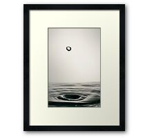 Faling Droplet into water surface Framed Print