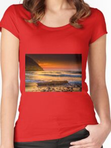 A timber at seaside Women's Fitted Scoop T-Shirt