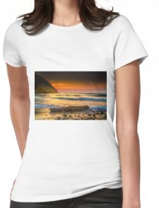 A timber at seaside Womens Fitted T-Shirt