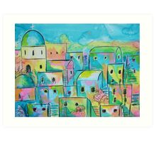 Mediterranean village Art Print