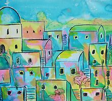 Mediterranean village by Emily King