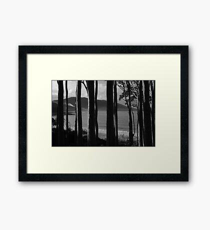Depot Beach Framed Print
