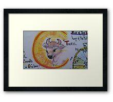 Taurus from horoscope charts Framed Print