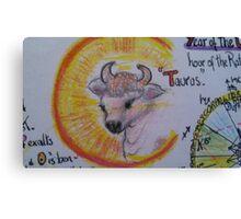 Taurus from horoscope charts Canvas Print