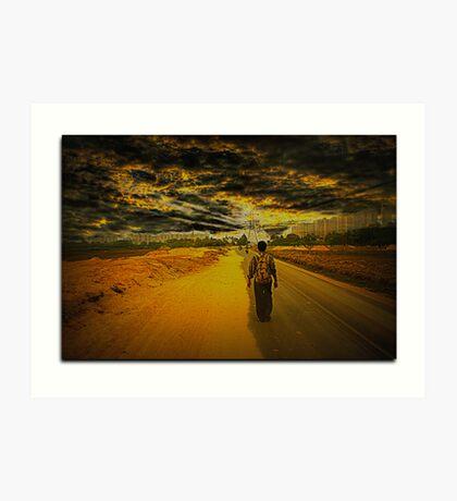 Journey towards Uncertainity Art Print