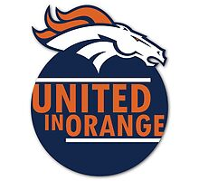 Broncos United In Blue by KeithSwo