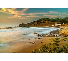 A boat shed at seaside Photographic Print