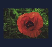 Red Poppy - Vibrant, Bold and Cheerful Baby Tee