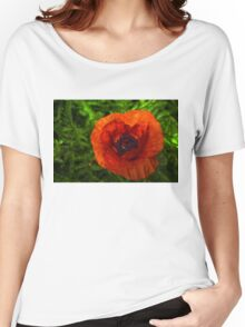 Red Poppy - Vibrant, Bold and Cheerful Women's Relaxed Fit T-Shirt