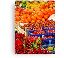 Red Hot Chillies with Friends Canvas Print