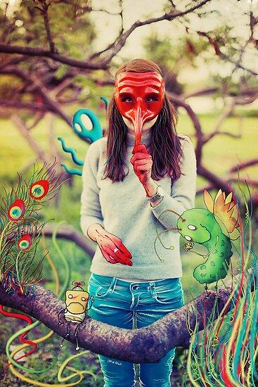 Parade with imaginary friends by Sabina Dimitriu