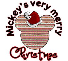 Mickeys Very Merry Christmas Photographic Print