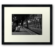 Fast Train to Paris ... Framed Print