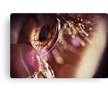 Eye macro with flares Canvas Print