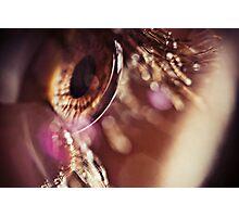 Eye macro with flares Photographic Print