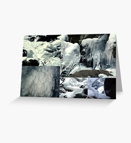 Winter Formations Collage Greeting Card