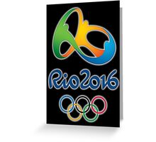 Olympics in Rio 2016 Greeting Card