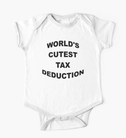 World's Cutest Tax Deduction One Piece - Short Sleeve