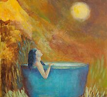 A bath by moonlight by Magdalena Walulik