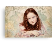 Pre-Raphaelite Redhead on a Pale Afternoon Canvas Print