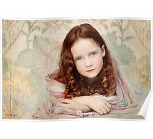 Pre-Raphaelite Redhead on a Pale Afternoon Poster