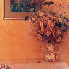 Still life with dry flowers by Angela Bruno