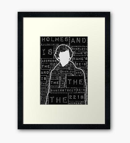 Sherlock BBC: Type Framed Print