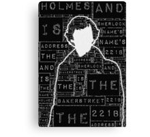 Sherlock BBC: Type Canvas Print