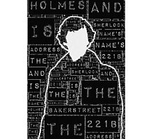 Sherlock BBC: Type Photographic Print