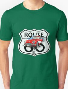 Vintage Route 66 US historic gifts red, white, black Unisex T-Shirt