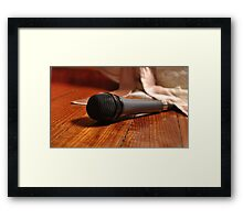 ... sing me a love song. Framed Print
