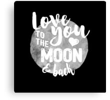 Fly Me to The Moon (b/w) Canvas Print