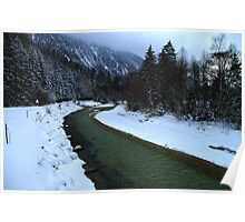 Germany, River Isar near Mittenwald Poster