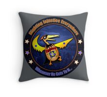 Eggbert - Slighting Injustice Everywhere Throw Pillow